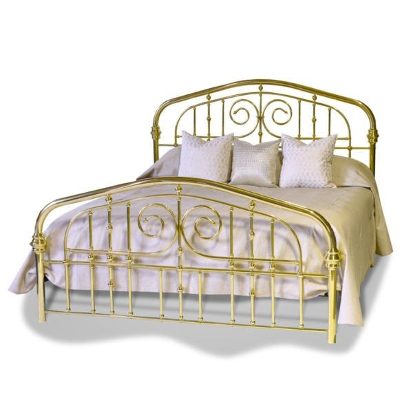 Souvenir Brass Bed King Size Ball And Bun Accents Along With