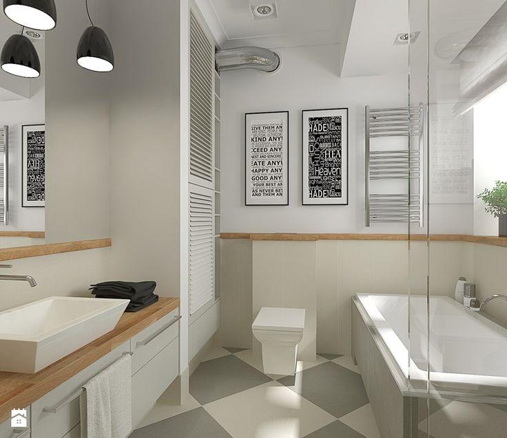 Aranżacje wnętrz - Łazienka: Mieszkanie w budynku z lat 40-tych - Łazienka, styl vintage - MIKOŁAJSKAstudio. Przeglądaj, dodawaj i zapisuj najlepsze zdjęcia, pomysły i inspiracje designerskie. W bazie mamy już prawie milion fotografii!