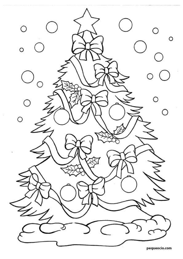20 Arboles De Navidad Para Colorear Y Como Dibujar Un Arbol