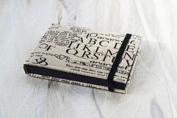 Papel de Artbook Black regalo para artista álbum dibujo cuaderno a6 negro páginas revista pequeña tela cuaderno de bocetos para doodle Doodling diario en blanco