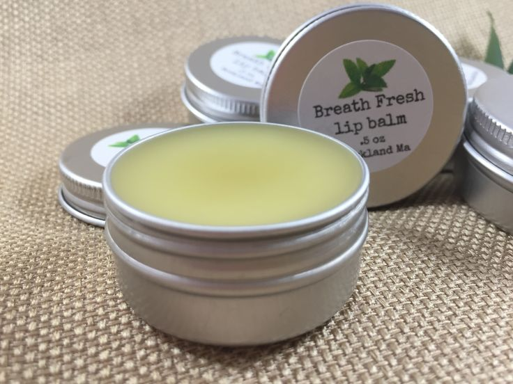Breath fresh lip balm really does freshen your breath. Get your at Healthy Home and Heart on Etsy.