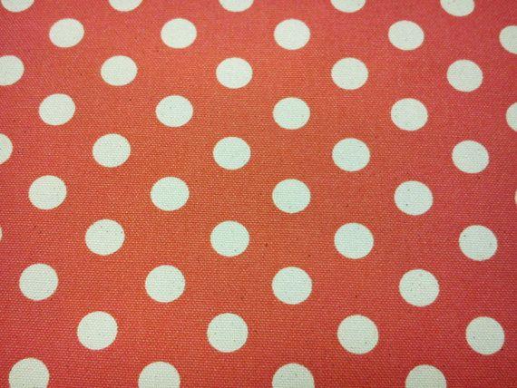 Elfenbein Punkte auf Orange fat Quarter reiner von lisahestore