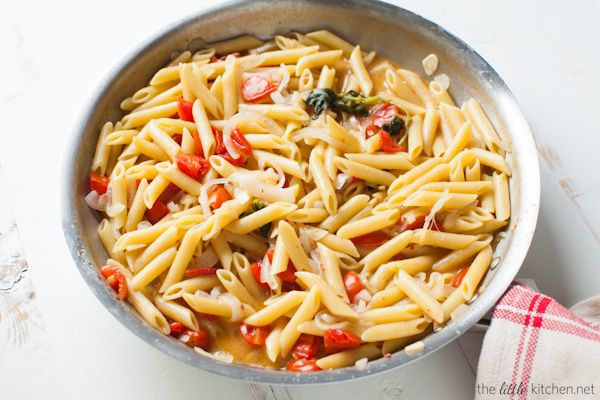 I have had doubts too but seriously it's so good...and so easy. Just throw all of the ingredients into a pan and cook! One Pot Penne Pasta with Tomato & Basil from thelittlekitchen.net