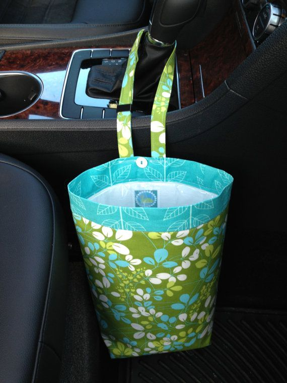 Car Trash Bag SIMPLY COLOR by MODA Women Car Litter by GreenGoose, $26.00
