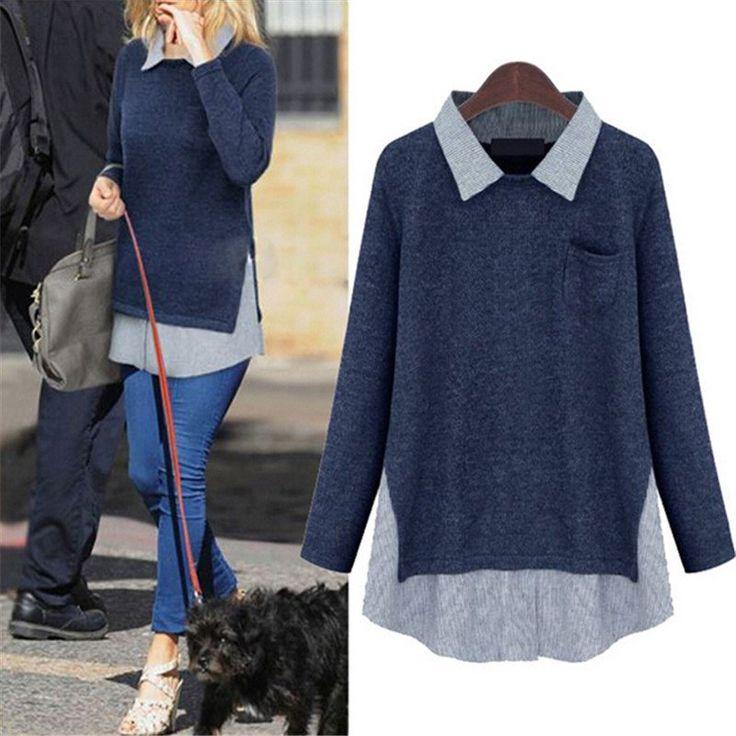 Women Casual Knitwear Fashion Blouse