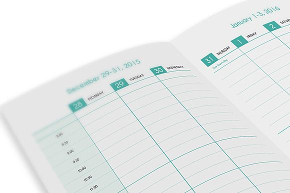 Weekly Planner 2016-v2 by Templatepickup on @creativemarket