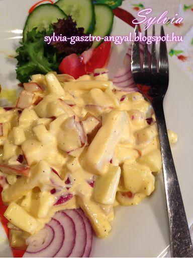 Sylvia Gasztro Angyal: Majonézes almás sajtsaláta