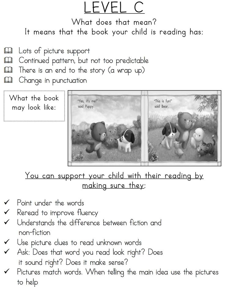 Guide to Reading Levels: A - R Characteristics of Leveled Texts for Parents!  $2.00