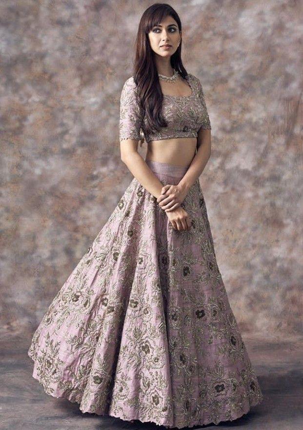 Beautiful Silk Hand Embroidered Lehenga Choli Beautiful Traditional