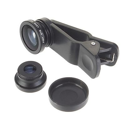 Detachable Clip-on Lens for iPhone/iPad/Android