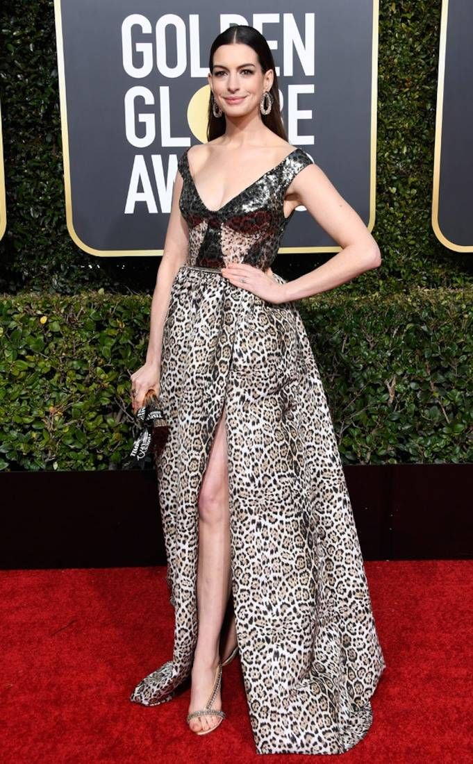 Anne Hathaway from 2019 Golden Globes Red