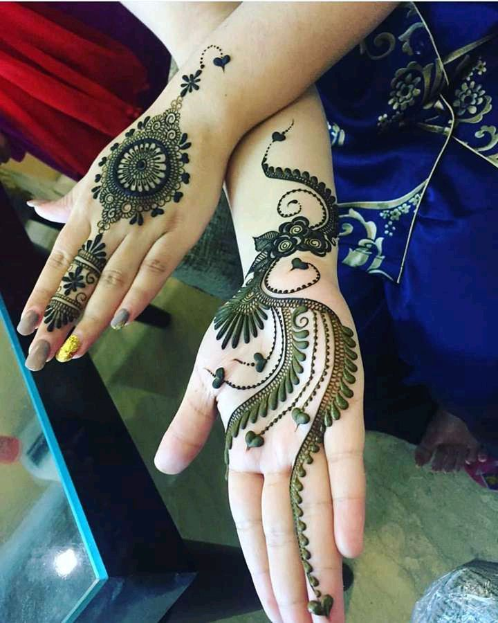 Latest mehndi design for front hand and back hand very