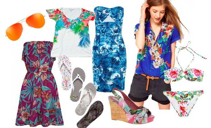 Look Hawaiano:  Los catálogos de las principales colecciones de moda incorporan el diseño hawaiano en camisas, vestidos, camisetas, faldas, etc. Toda la energía positiva que desprenden estas prendas se hace palpable en diseños ante todo frescos y cómodos aunque sin perder un ápice de glamour.
