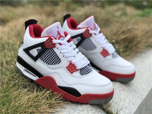 big sale 5021e 37bb9 Air Jordan 4 IV White Fire Red 2019