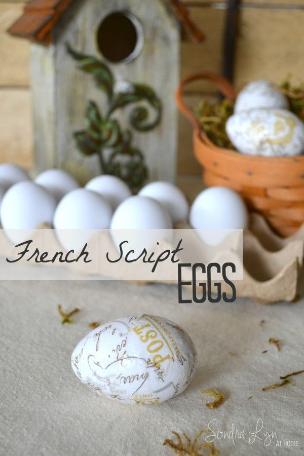 French Script Eggs Spring ProjectsSpring