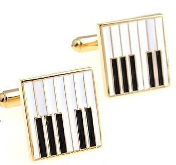 Premium Music Piano Keys Design Cufflinks