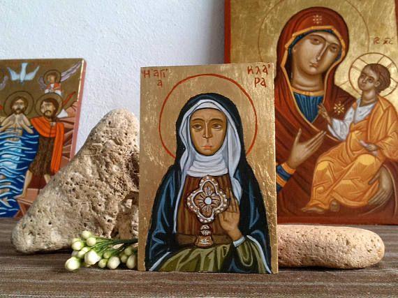 St Clare of Assisi Saint Claire byzantine catholic icon