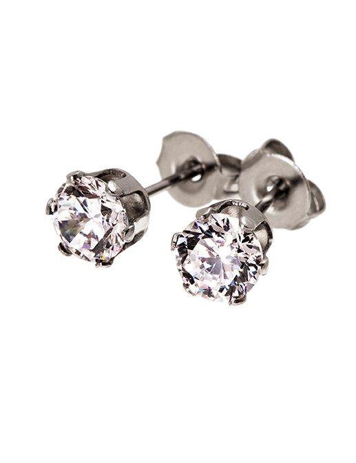 Underbara örhängen med en större glittrande klar sten från Edblad. Crown är en elegant serie med olika stenar.