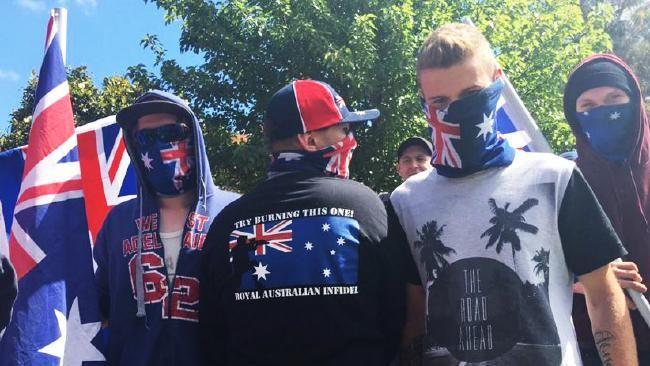 22/11/15: Melton: Reclaim Australia protesters in Melton. Picture: Cassie Zervos