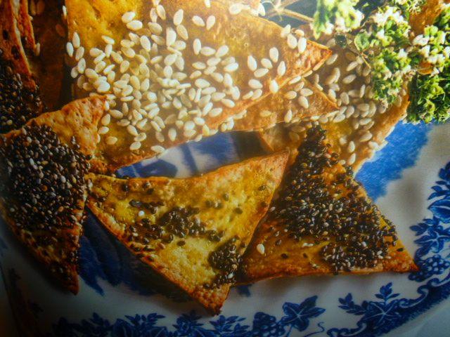 chips al forno - di tofu ai semi misti -