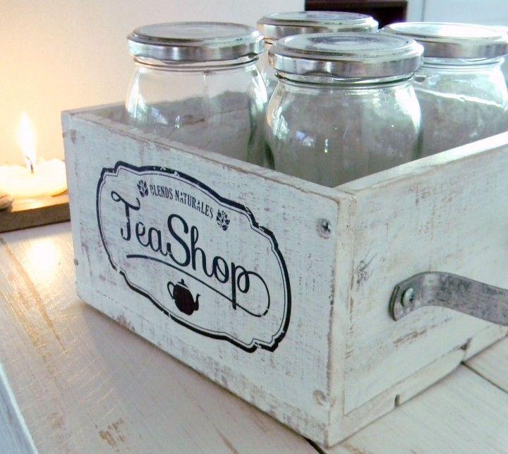 Cajón vintage para organizar hebras de té | MercadoLimbo.com