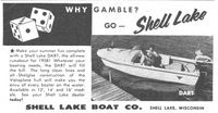 Shell Lake Dart Boat 1958 Ad Picture