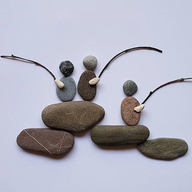 Pebble Art - fishing
