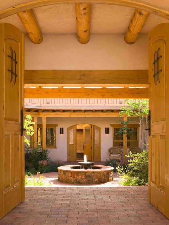 Good Sensational Adobe Home Design For Living : Fabulous Mediterranean Entry  With Water Feature Adobe Home In New Mexico | Adobe | Pinterest | Water  Features, ... Part 3