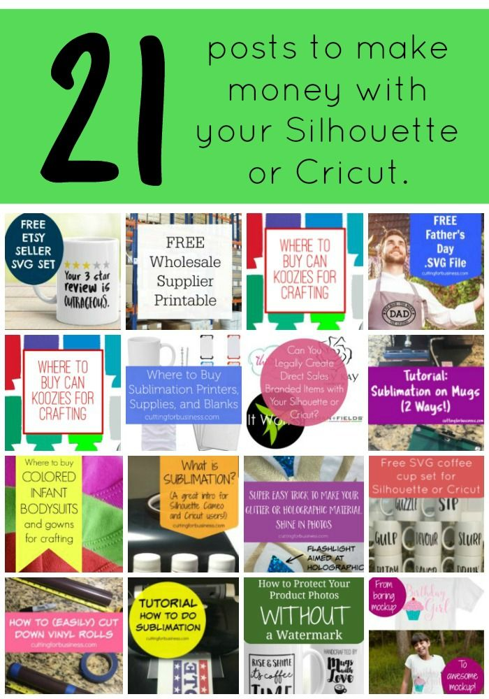 Pin now, read later! The best and most thorough resource on the internet for making money with your Silhouette Cameo, Curio, Mint, or Cricut (Explore). cuttingforbusiness.com