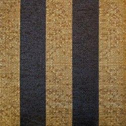 Diseño con rayas dorado, marrón y gris oscuro en este papel vinílico de la colección Imagine de Parati.