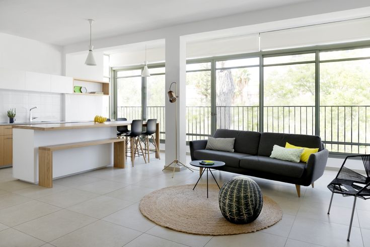 Apartment In Israel By Itai Palti Uses Plants As A Focal Point Ramat Gan Kitchen…