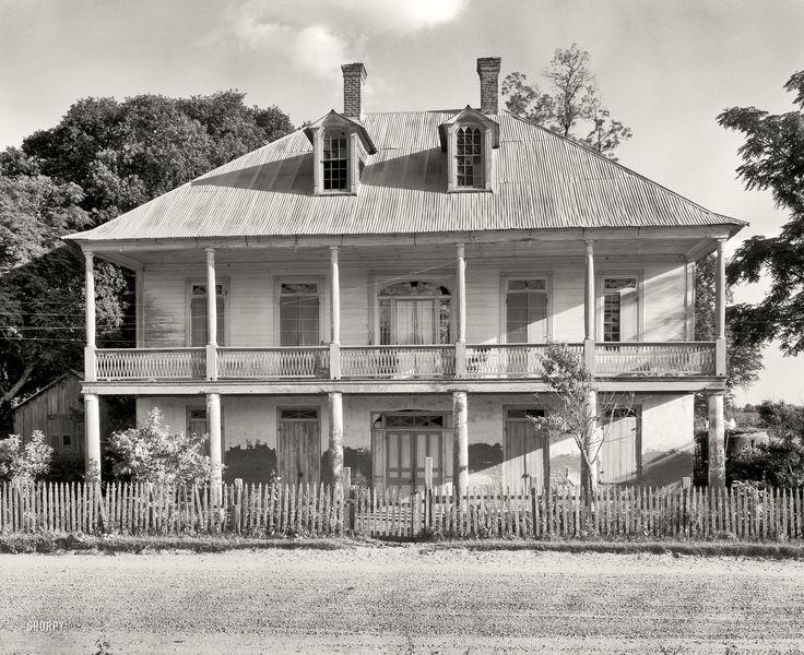 "Pointe Coupee Parish, Louisiana, 1938. ""Labatut. New Roads vicinity, built by Don Evariste de Barra, Spanish grandee, 1800. His descendants, the Labatut and Pugh families, still living here."""
