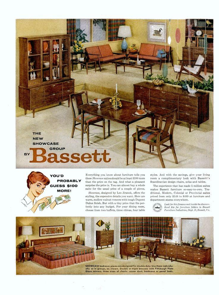 13 best Vintage Bassett Furniture Advertisements images on Pinterest