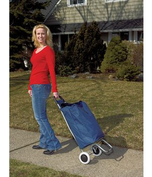 Rolling Shopping Cart Blue $61.00 FREE Shipping from uCan Health || Rolling Shopping Cart, Blue, Lifestyle Essentials,Lifestyle