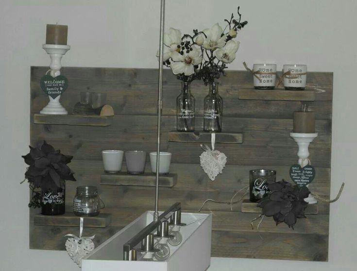 Steigerhout steiger sloophout meubel pinterest - Deco schilderij gang ...