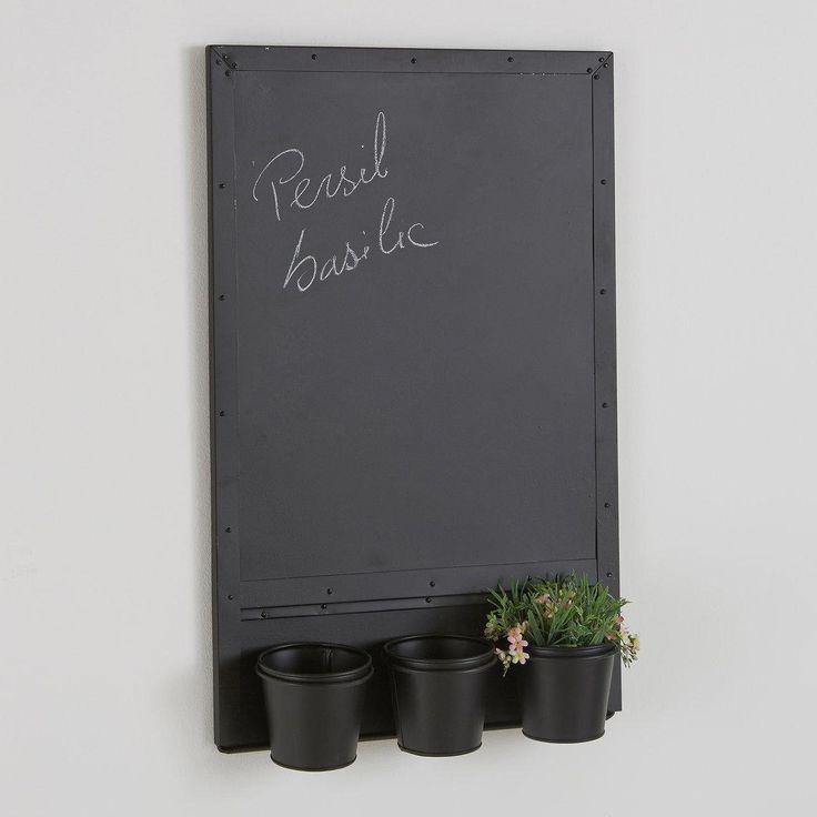 tableau magntique 3 pots en galva bendo la redoute interieurs la redoute mobile - Tableau Pour Cuisine Pour Courses