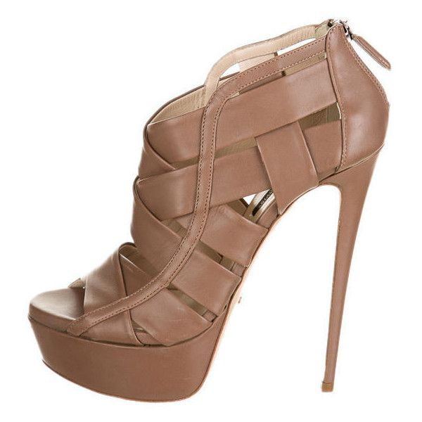Pre-owned Ruthie Davis Halle Platforms ($375) ❤ liked on Polyvore featuring shoes, heels, sapatos, brown, ruthie davis, peeptoe shoes, pre owned shoes, brown platform shoes, ruthie davis shoes and peep toe shoes