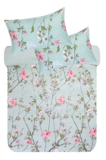 Print And Embroidered Duvet Cover Set