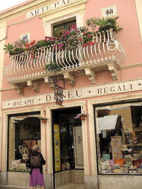 Window Shopping in Taormina, Sicily, Italy
