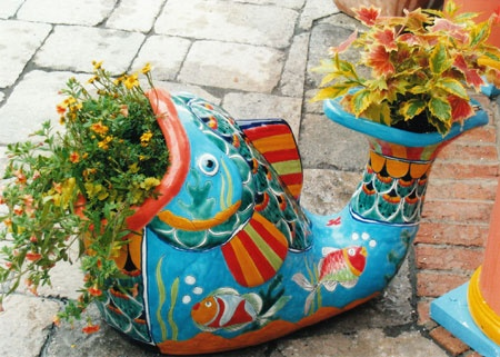 Talavera pottery--love the color they bring to any space!