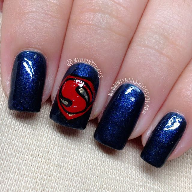 Dainty Nails: Man of Steel Nails / Superman  #nail #nails #nailart