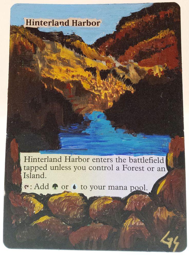 MTG Altered Art Hinterland Harbor Hand Painted Full Art OOAK Rare Magic Card #WizardsoftheCoast Cool~