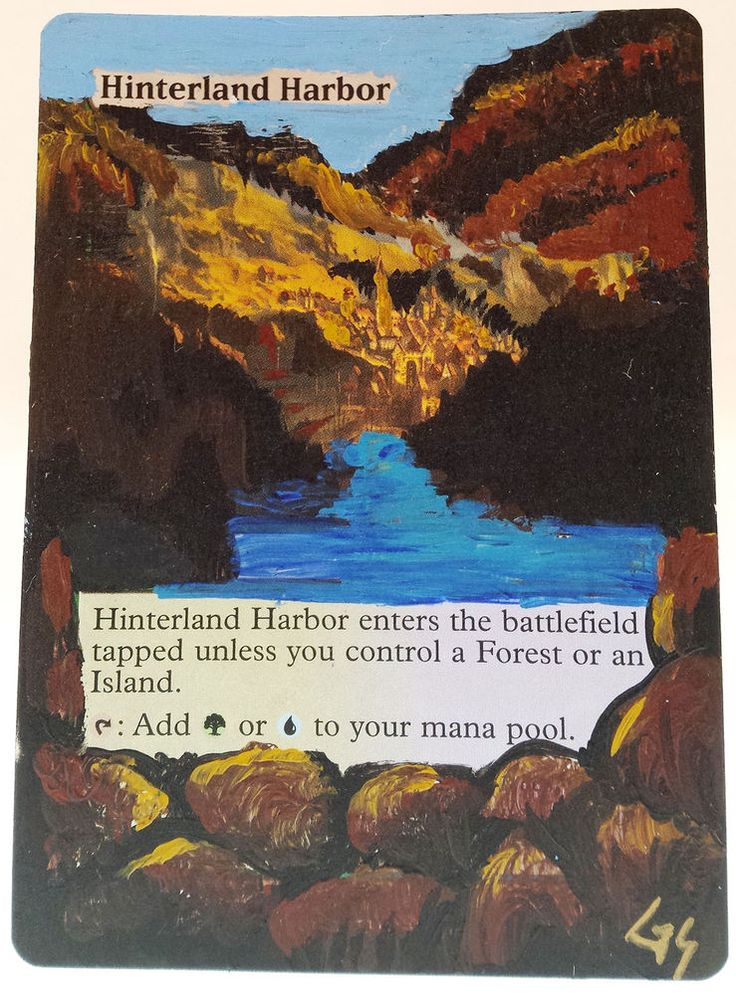 MTG Altered Art Hinterland Harbor Hand Painted Full Art OOAK Rare Magic Card #WizardsoftheCoast Cool~