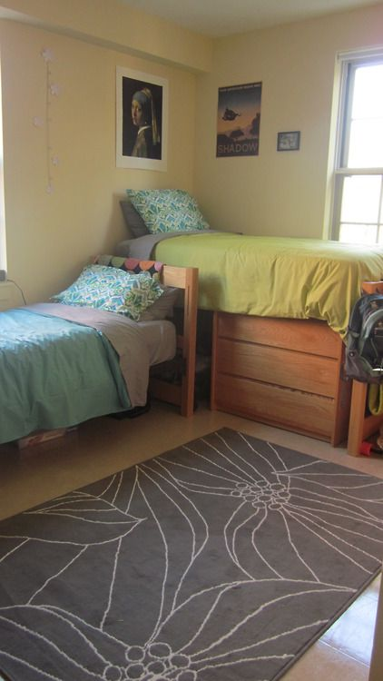 110 best dorm room layout images on pinterest college Dorm room setups