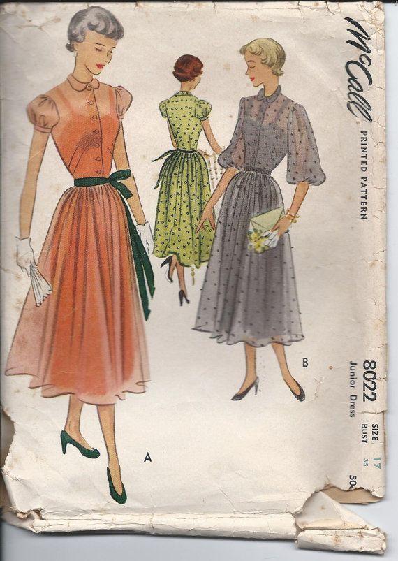 1950s balloon dresses fashion