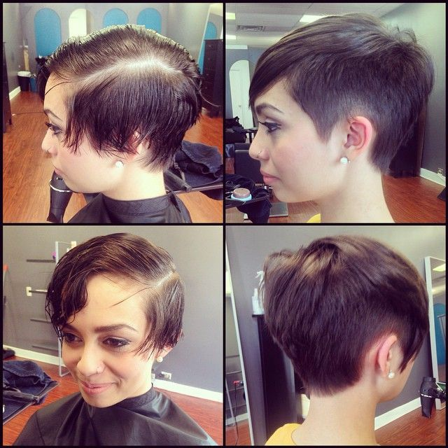 Before And After, Pixie Undercut For My Baby Sister, By