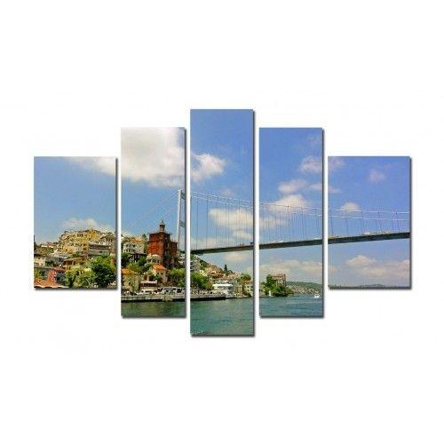 5 Parça Kanvas Tablo  - İstanbul -5B330910 Fabulous paintings for home decoration ...