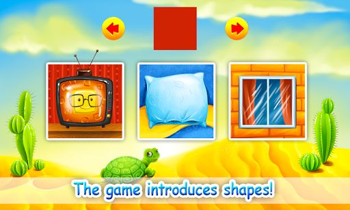 """""""Learning Shapes"""" is an educational shapeup game for young children. A portal to the color & shape world, the app helps to build the skills and knowledge of your child in a playful manner. The young player will be taught to distinguish between different shapes and apply that knowledge in real life.<p>Features and Advantages of the Game:<p>- The shape puzzle game presents seven different figures, including circle, rhombus, square, rectangular, oval, hexagon, triangle, as well as shapes of…"""