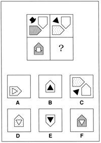 Non-verbal reasoning test