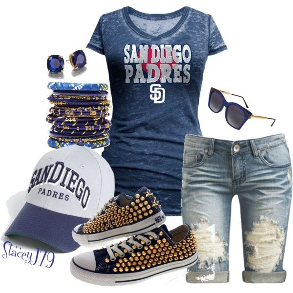 """Padres-""""Boys of Summer""""Contest by staceyj79 on Polyvore featuring mode, Arden B., Amrita Singh, Kate Spade, Thierry Lasry, New…"""